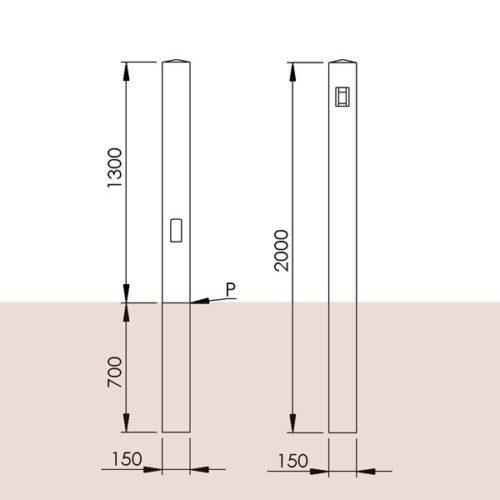 Timberled tower bollard