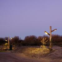 Van Hees Infra Techniek Alto Dubbel LED houten verlichting